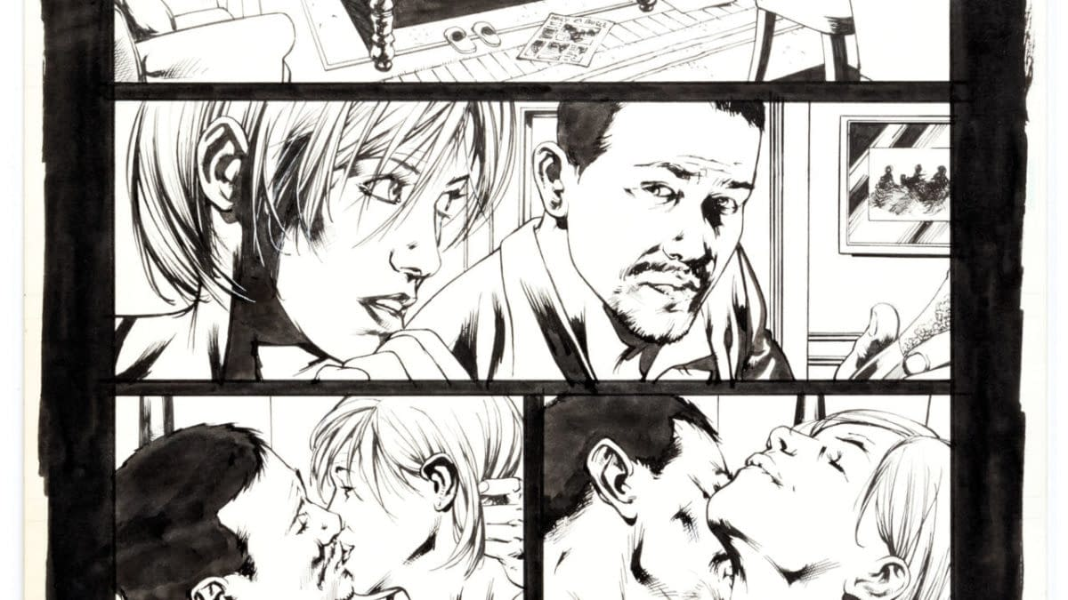 Tony Stark & Black Widow Ultimates Sex Scene By Bryan Hitch Auctioned