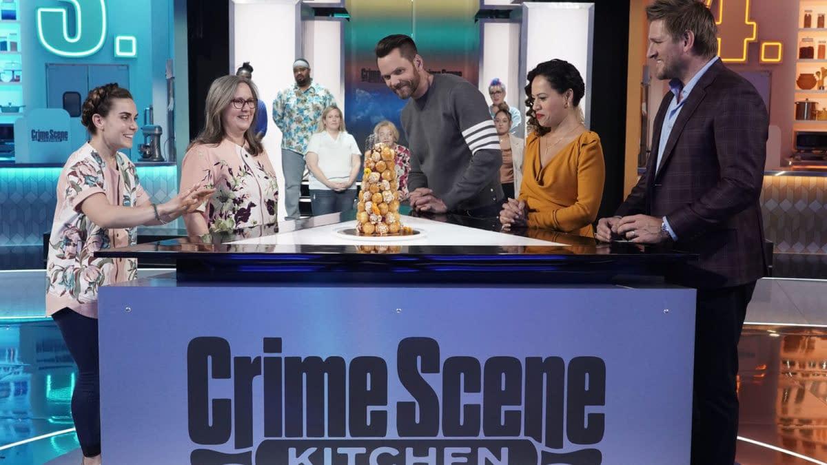 Crime Scene Kitchen Season 1 episode 4 Stuns with Mystery Tower