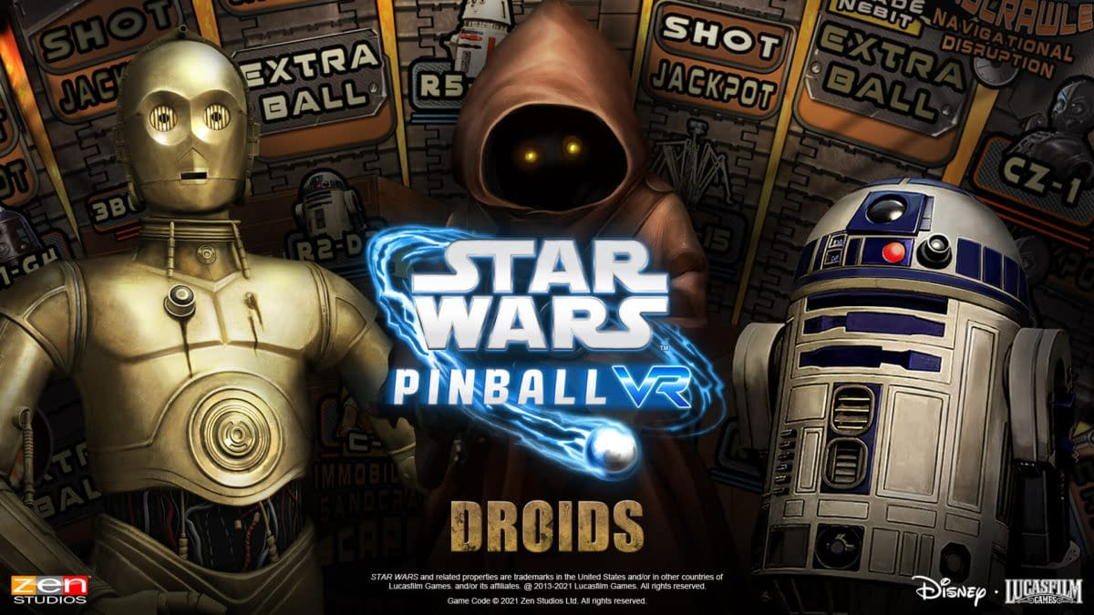 Star Wars Pinball VR Adds Free Droids Table DLC