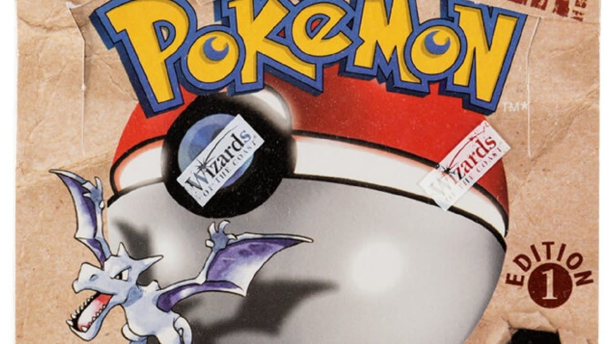 Pokémon TCG 1st Ed. Fossil Booster Box Up For Auction At Heritage