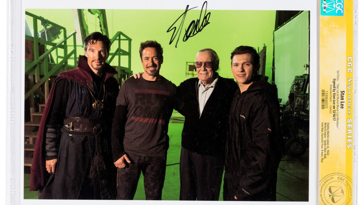 Stan Lee Signed Script Pages and Set Photo on Heritage Auctions