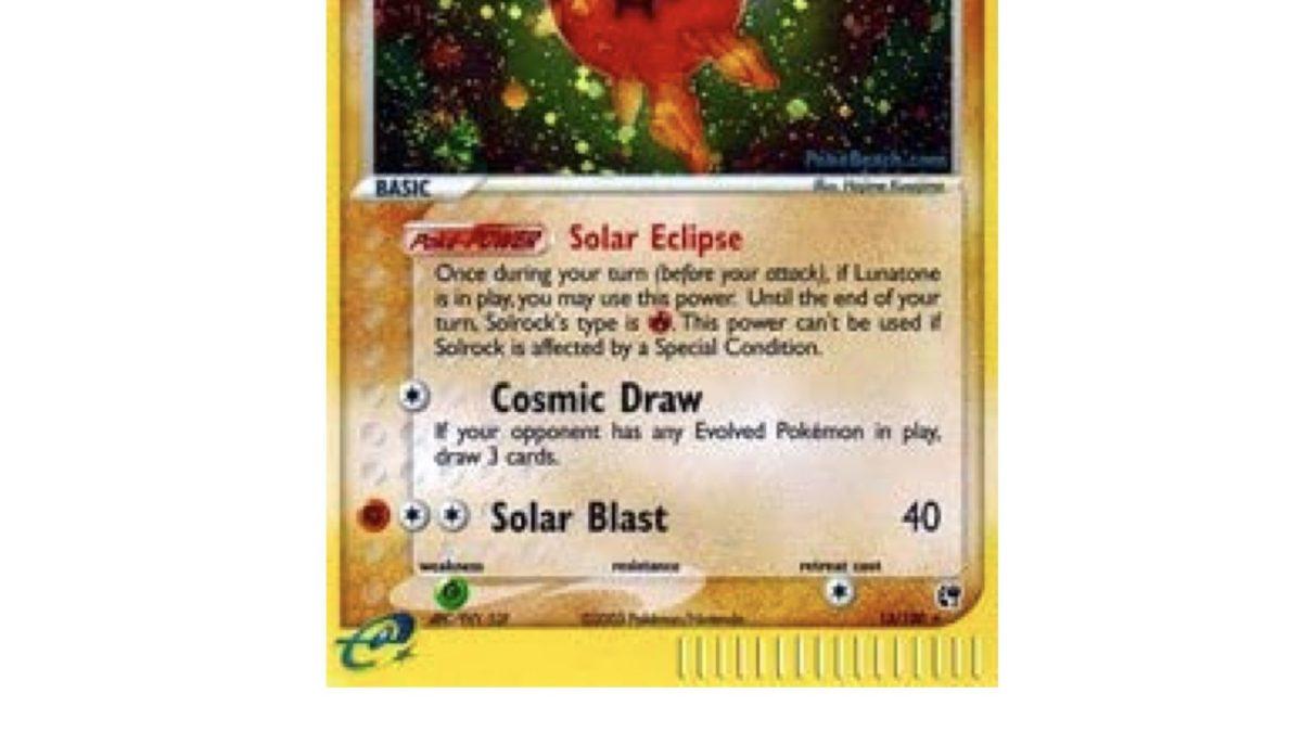 TCG Spotlight: Some of the Best Solrock Pokémon Cards