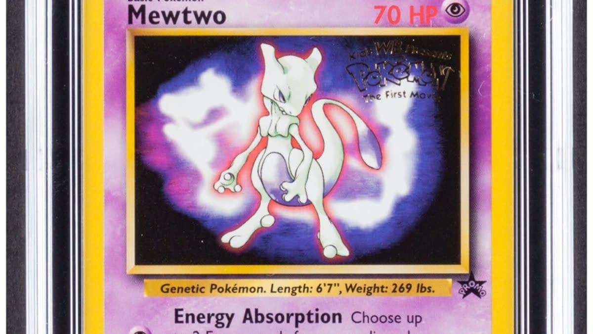 Pokémon TCG Black Star Movie Promo Mewtwo On Auction At Heritage