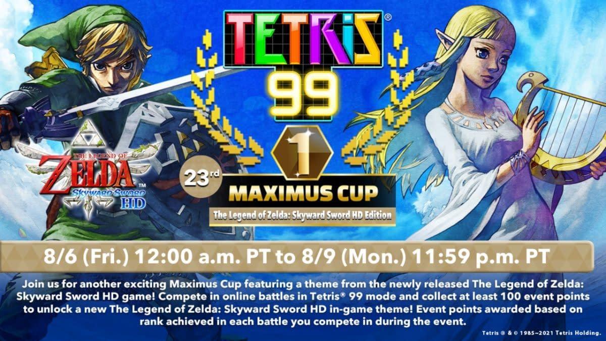 Legend Of Zelda: Skyward Sword HD headlines Tetris 99 Maximus Cup