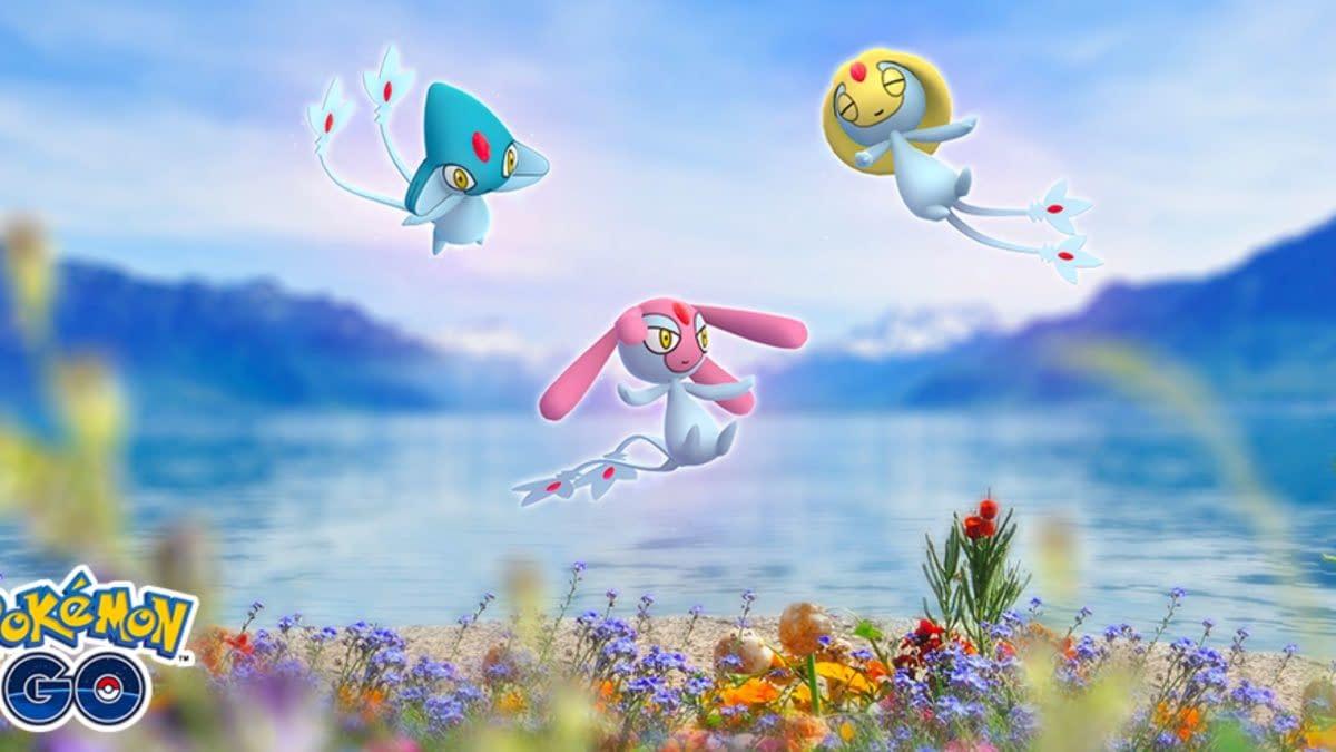 Tonight is Shiny Lake Trio Raid Hour #2 of 3 in Pokémon GO