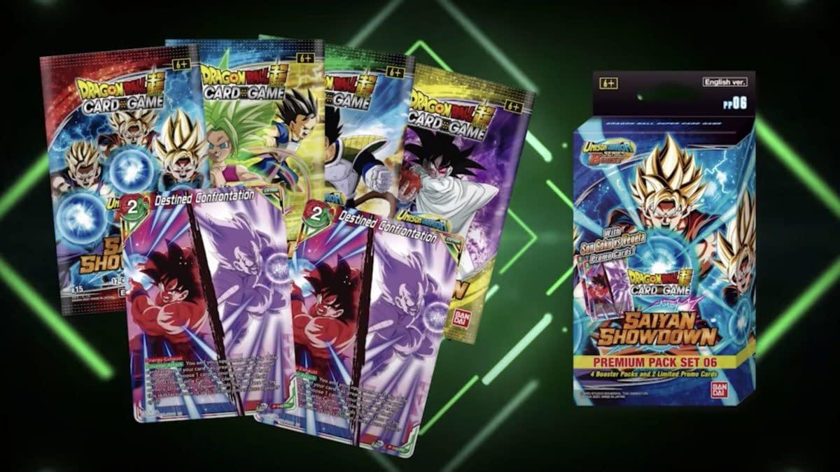 Dragon Ball Super Card Game Reveals Saiyan Showdown Premium Packs