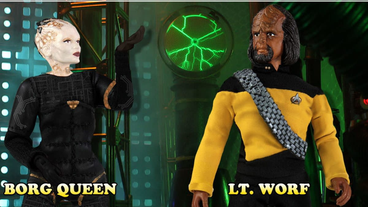 Star Trek The Next Generation Lt. Wolf and Borg Queen Come to Mego