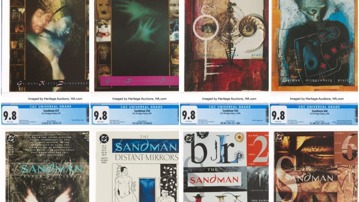 Lots Of CGC 9.8 Slabbed Sandman At Auction This Weekend