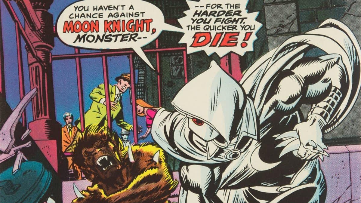 Werewolf by Night #32 featuring Moon Knight, Marvel 1975.