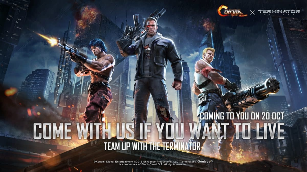 The Terminator Joins Contra Returns For A Special Event