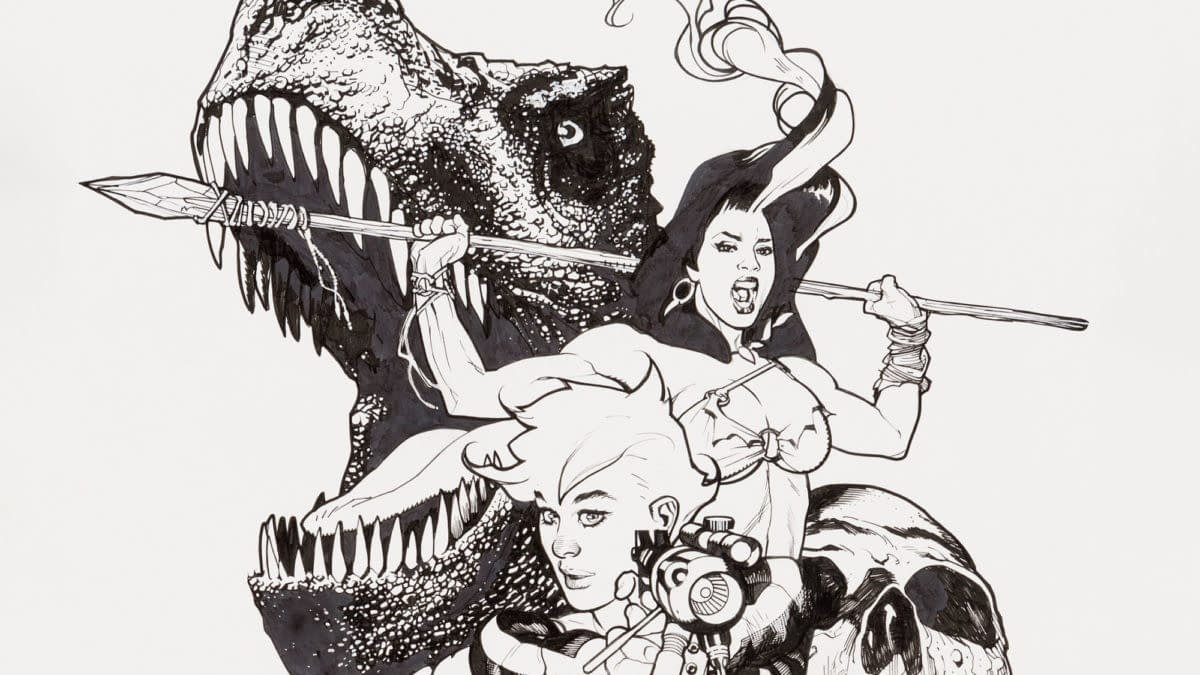 Adam Hughes Illustration Original Art (2021) for the Ed Asner Center Charity Auction.