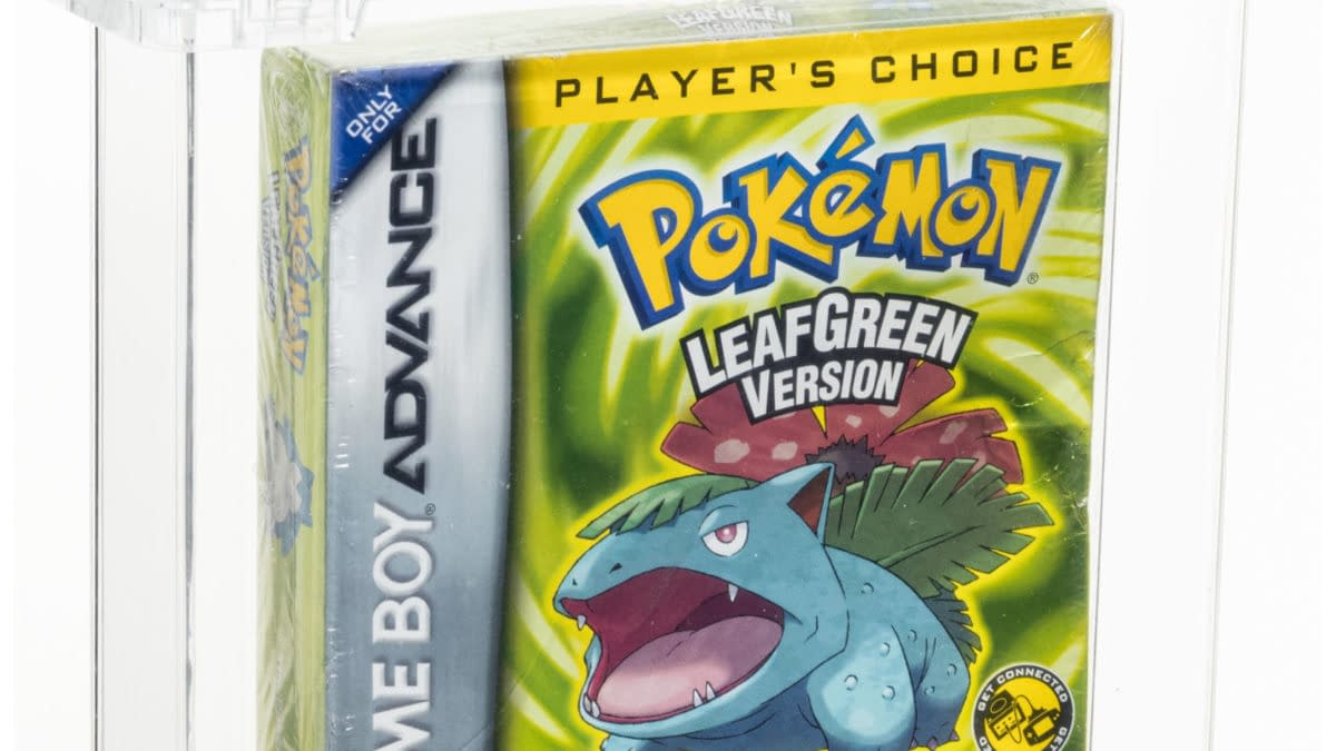 Pokémon Leaf Green Sealed, Graded Copy Up For Auction At Heritage