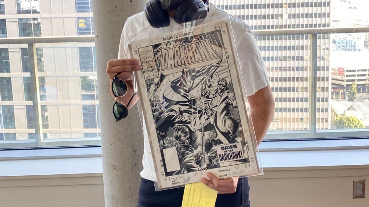 Dinesh Shamdasani Buys Original Cover to Darkhawk #1 Like Donny Cates