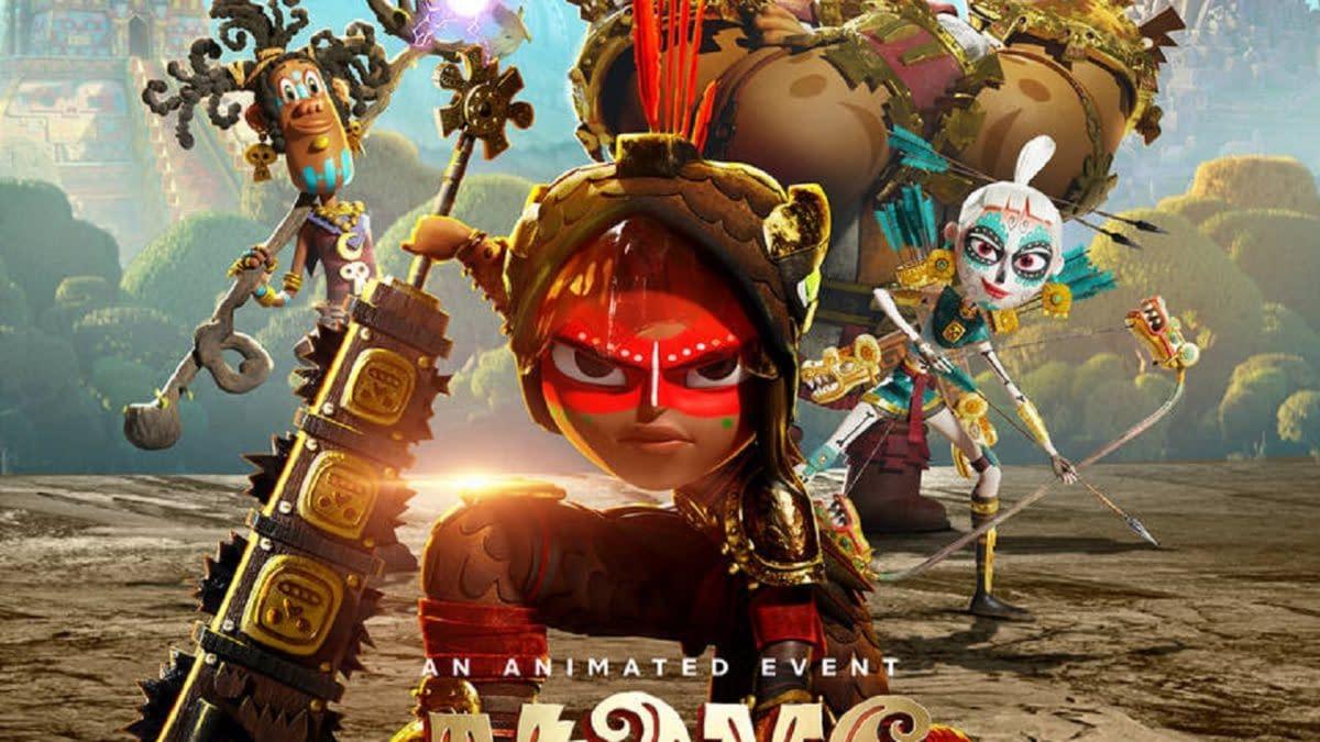 Maya and The Three Poster. Credit Netflix