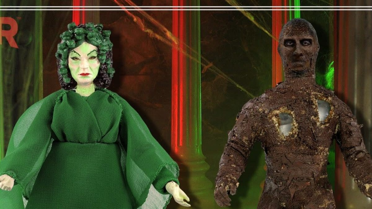 Hammer Horror Gorgon and The Mummy Arrive for 2021 Topps x Mego