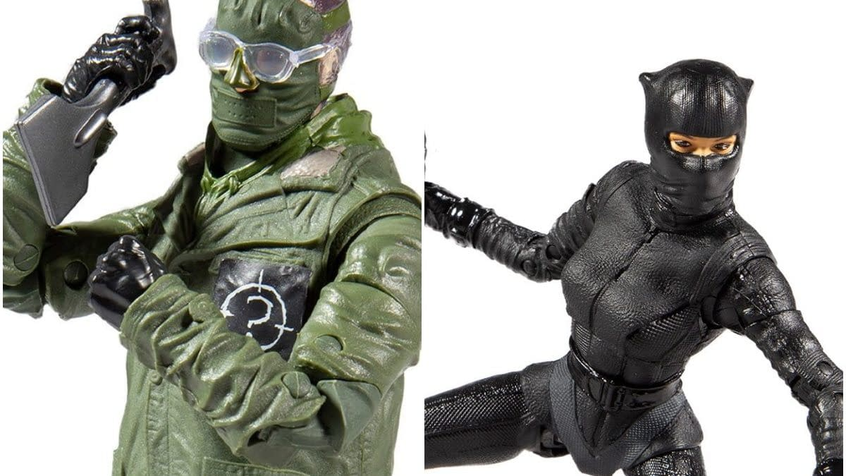 The Riddler and Catwoman from The Batman Arrive from McFarlane Toys