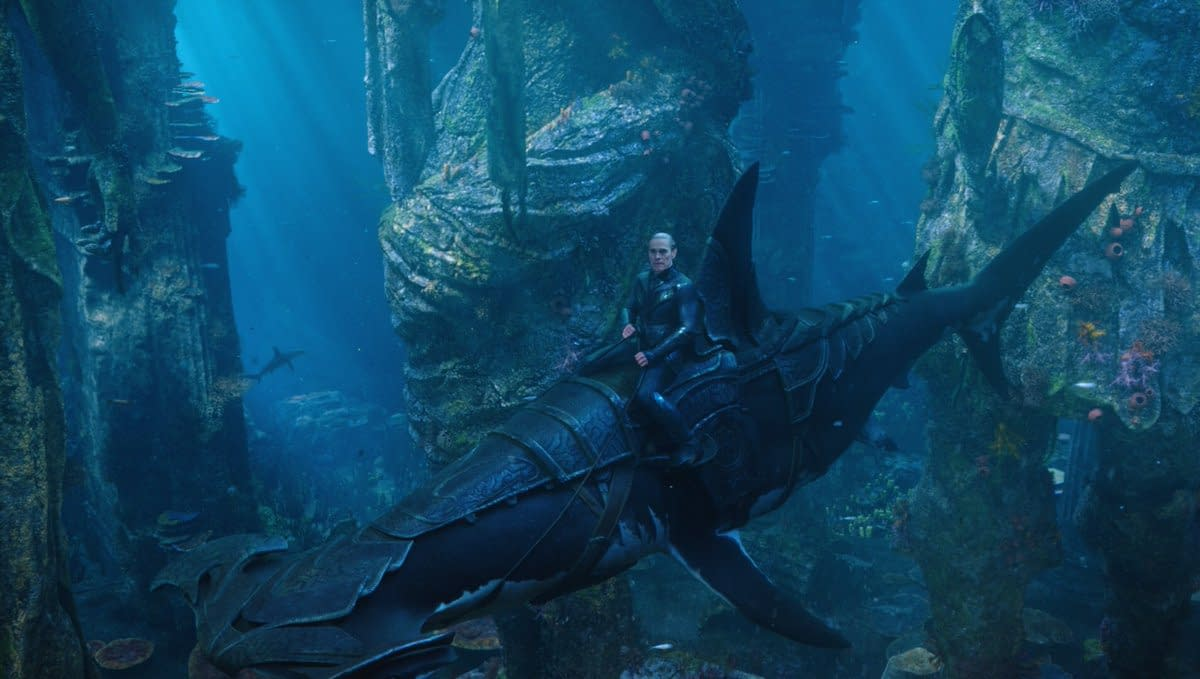 Check Out Some Armored Sharks in These New Aquaman Images