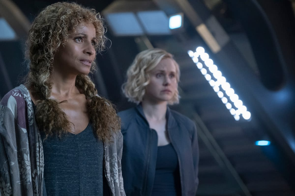 Michelle Hurd and Alison Pill in Star Trek: Picard