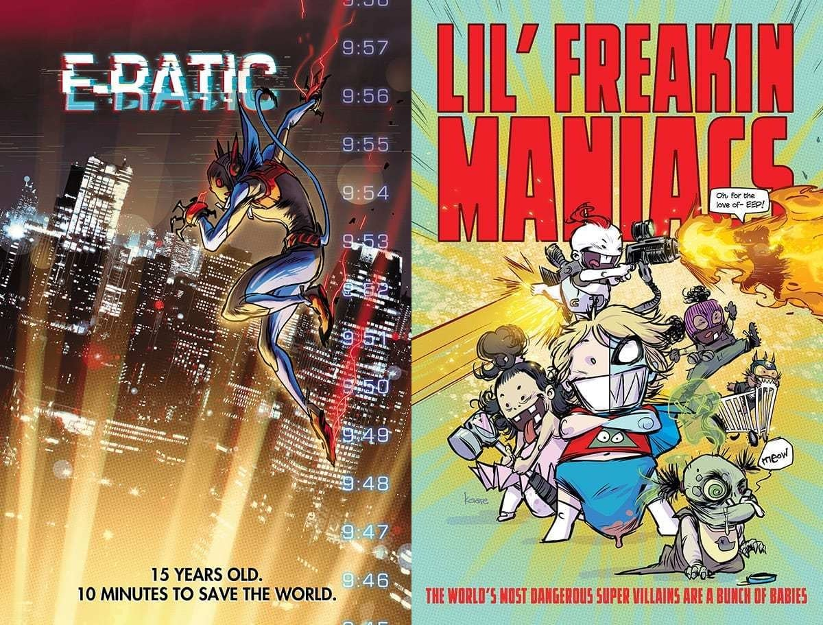 "Kaare Andrews to Launch Two Comics, ""E-Ratic"" and ""Lil' Freakin Maniacs"" From AWA"