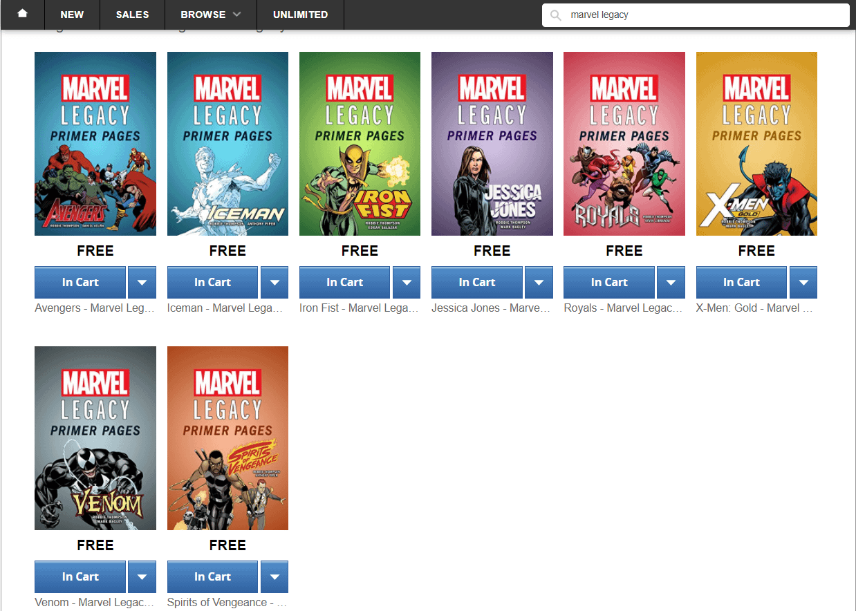 8 Of The Marvel Legacy Titles' Primer Pages, Free On ComiXology – Avengers, Iceman, Iron Fist, Jessica Jones, Royals, X-Men Gold, Venom And Spirits Of Vengeance