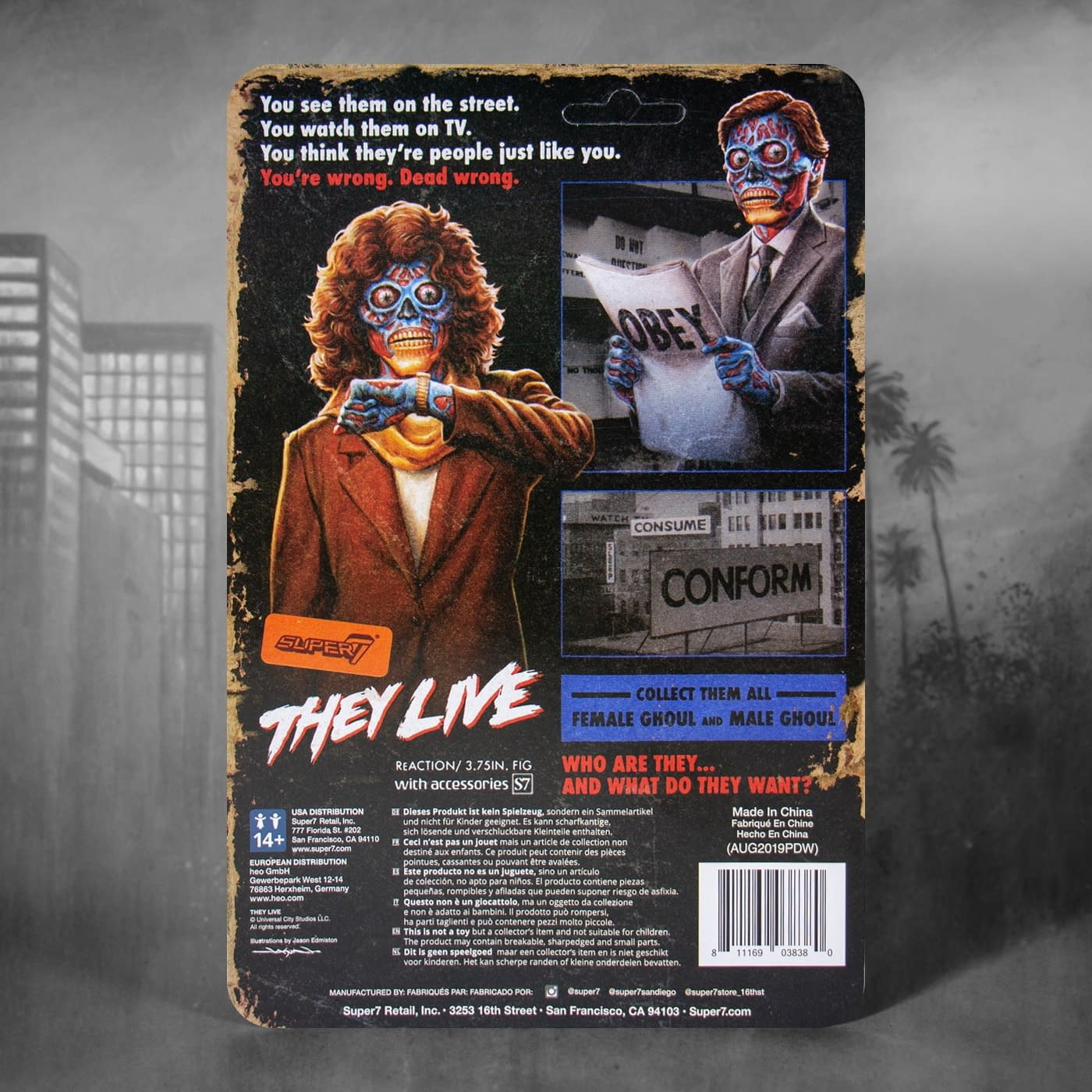 """They Live"" ReAction Figures Are Here and They Must Obey"