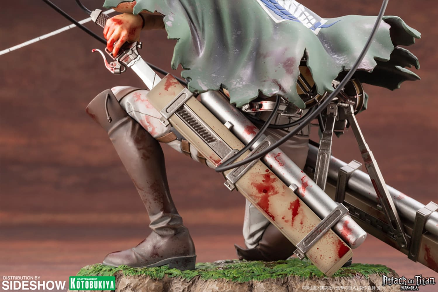 """Attack on Titan"" Levi Gets New Statue From Kotobukiya"