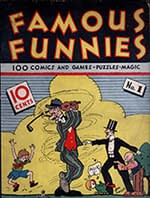 """""""Famous Funnies #1."""" July 1934, Eastern Color Printing. Art by Jon Mayes."""