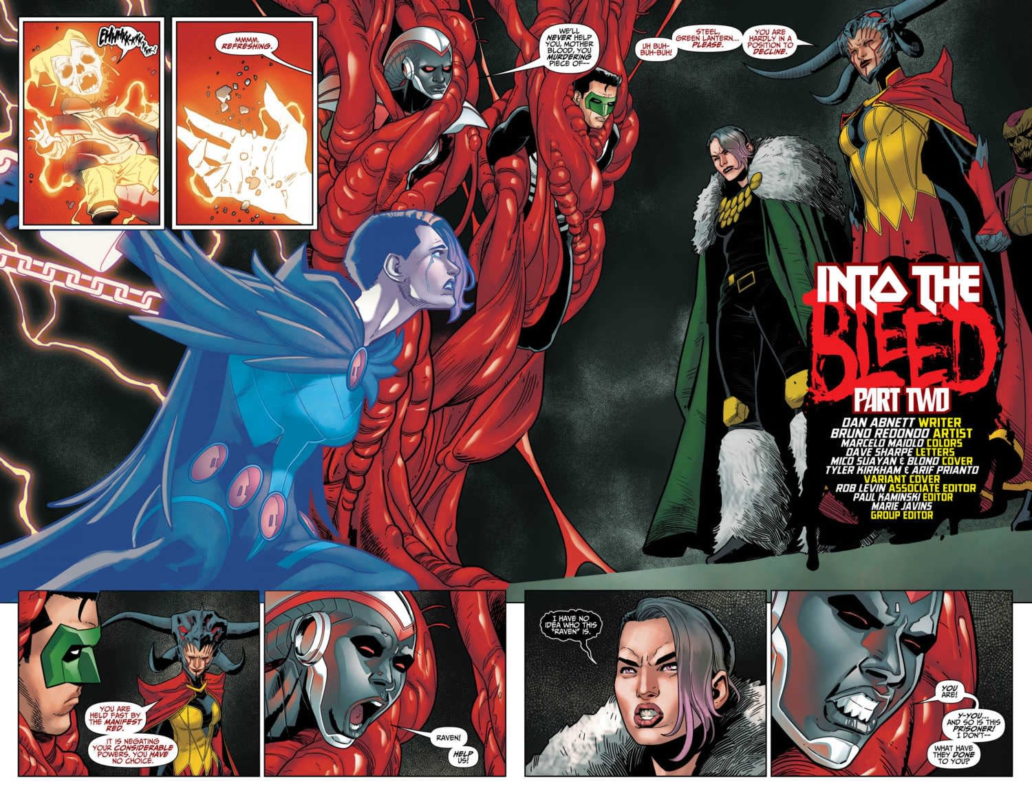 Mother Blood Fights the Tyranny of Justice in Tomorrow's Titans #34