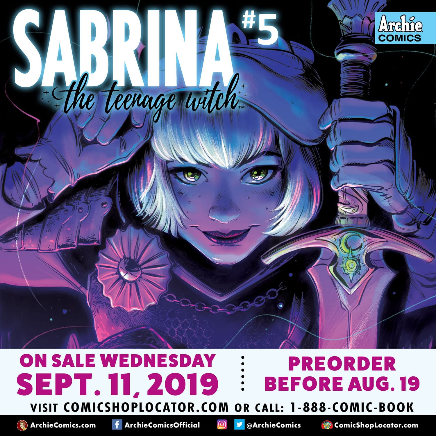 Will Moose Mason Support the Green New Deal? Previews of Archie: Married Life 10th Anniversary #2 and Sabrina #5