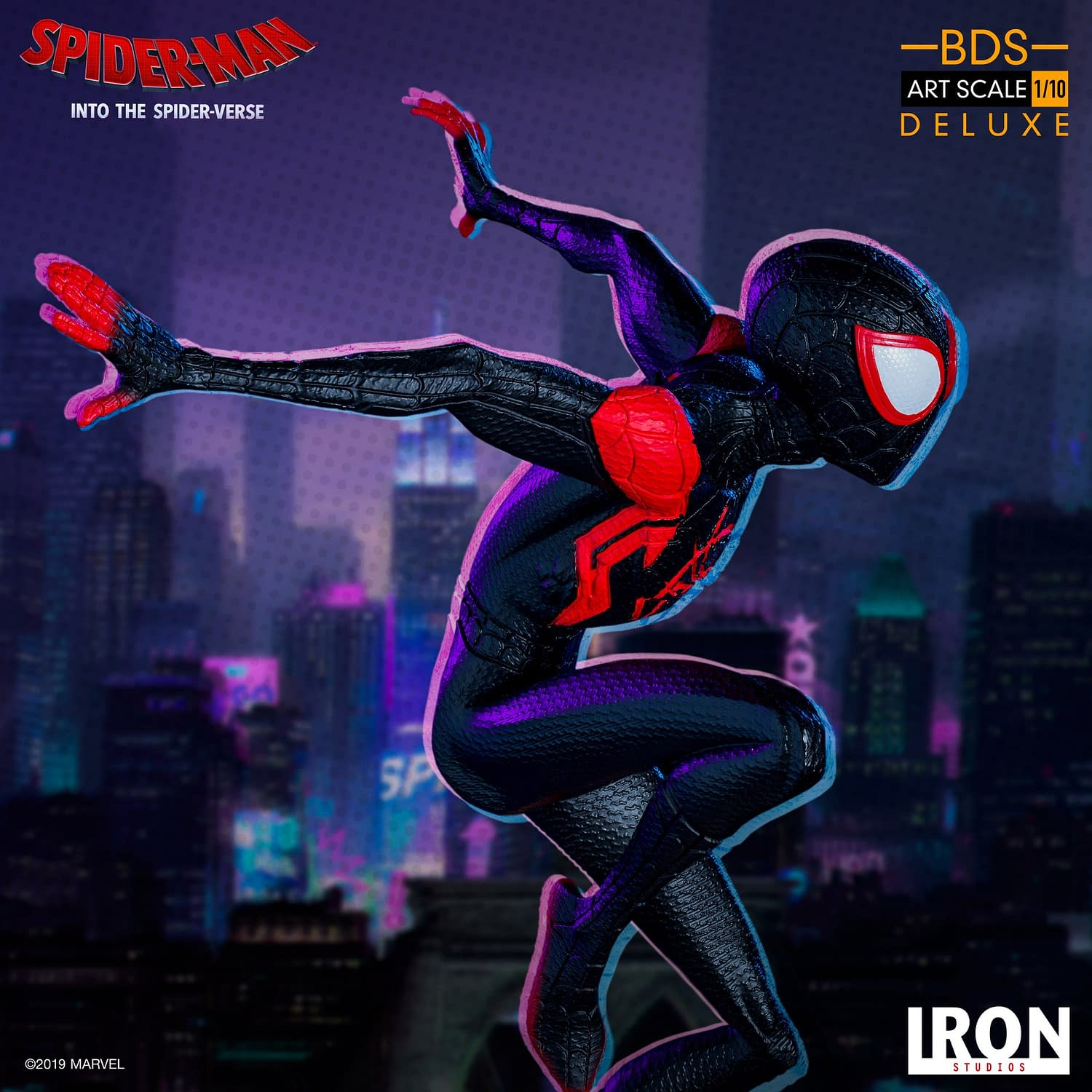 Miles Morales Swings in with New Iron Studios Statue