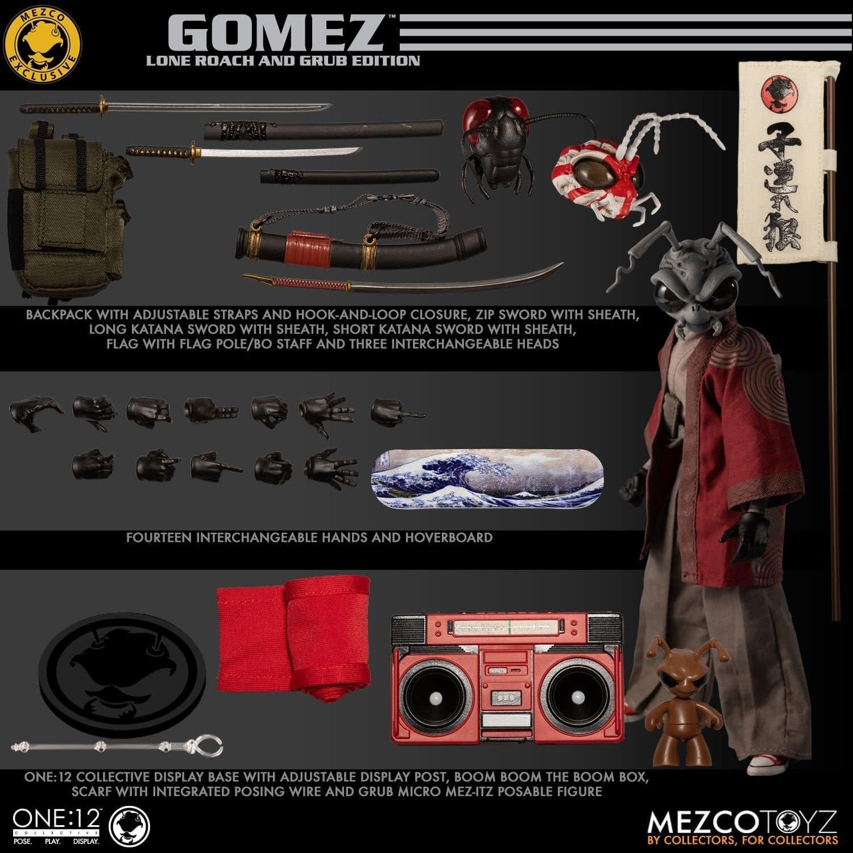Gomez: Lone Roach and Grub Get a One:12 Figure from Mezco Toyz