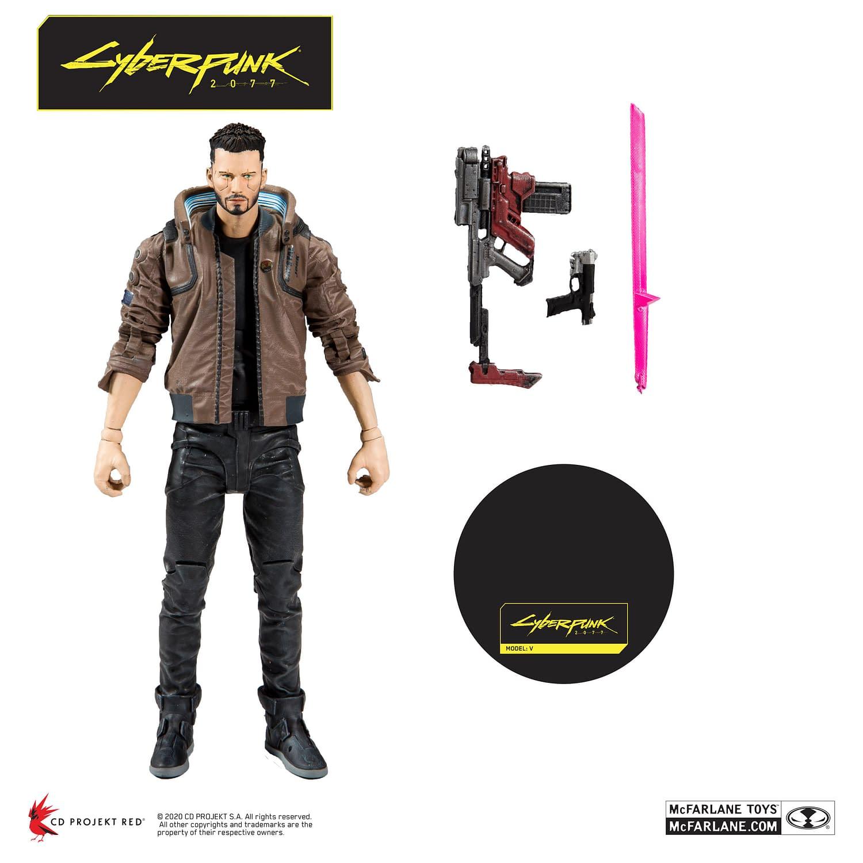 Keanu Reeves 7 Inch Action Figure Cyberpunk 2077 Johnny Silverhand McFarlane