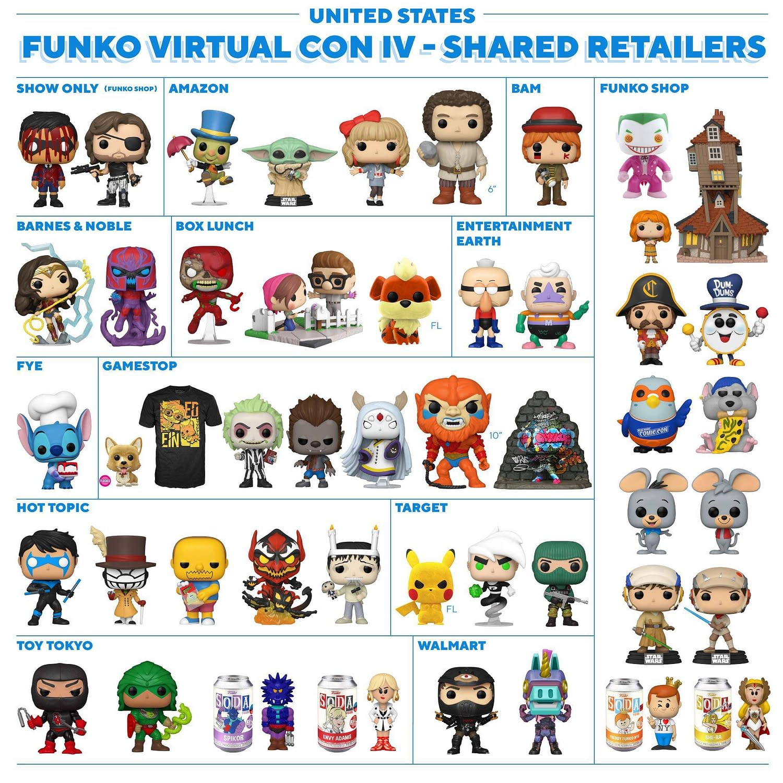 Funko New York Comic Con 2020 Shared Retailer Exclusive List