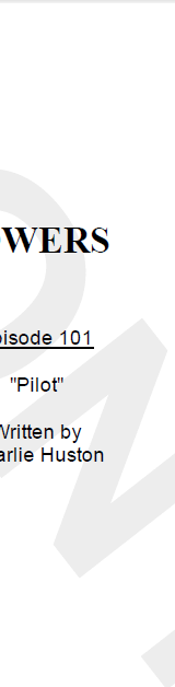 Ive Just Read The Pilot Script To Powers TV Show For Sony