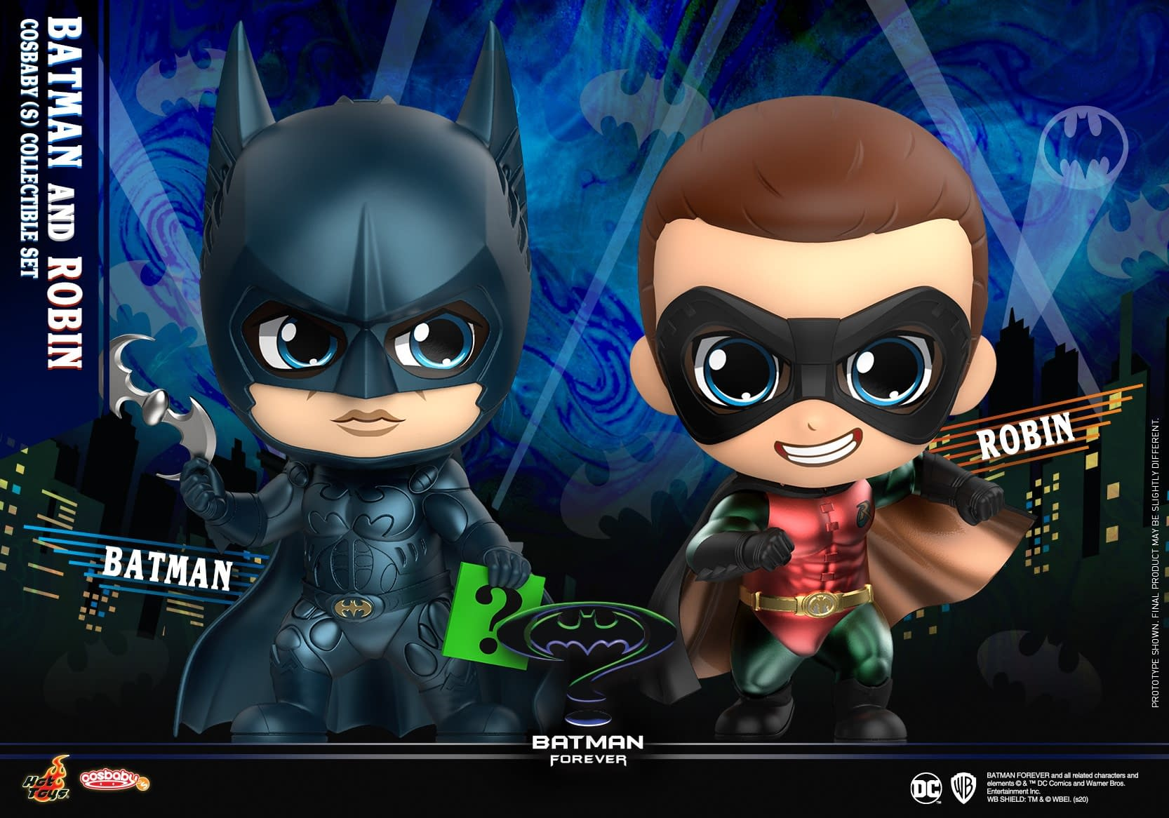 """""""Batman Forever"""" Cosbaby Figures Arrive with Hot Toys"""