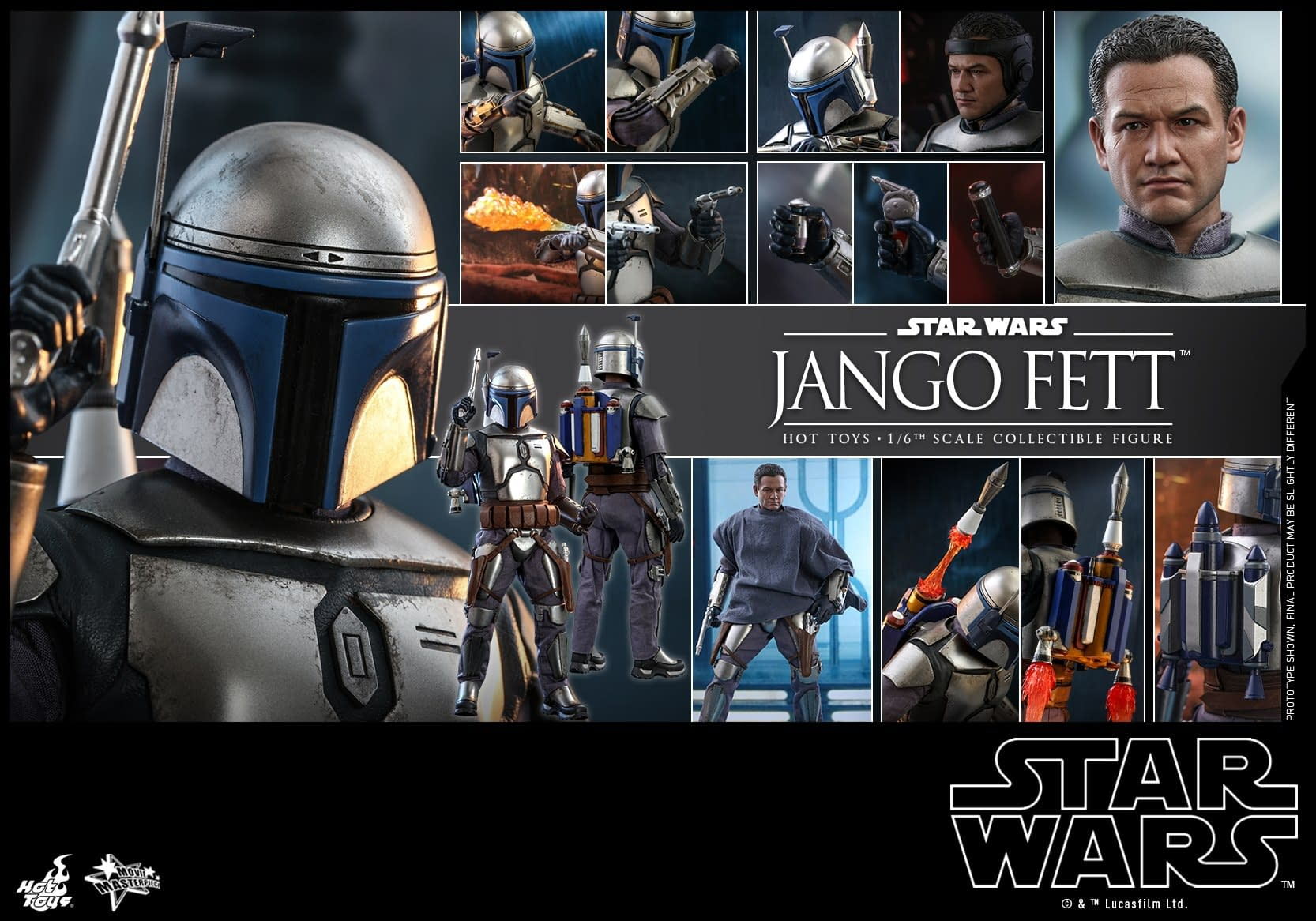Star Wars Jango Fett Arrives at Hot Toys with New Figure