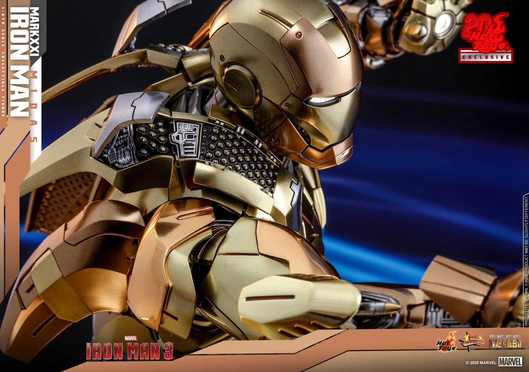 Iron Man Mark XXI (Midas) Armor Lands at Hot Toys