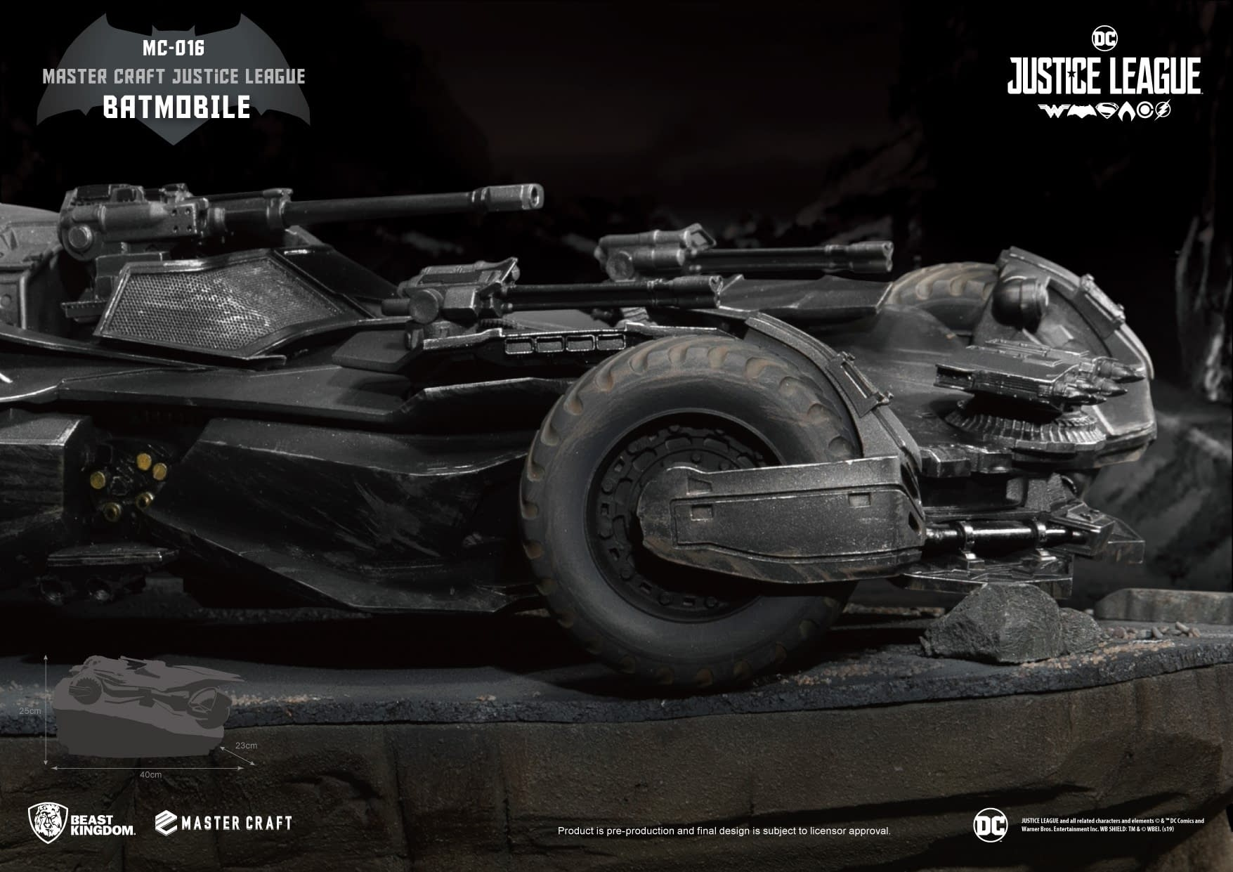 """Batmobile from """"Justice League"""" Gets a New Collectible from Beast Kingdom"""