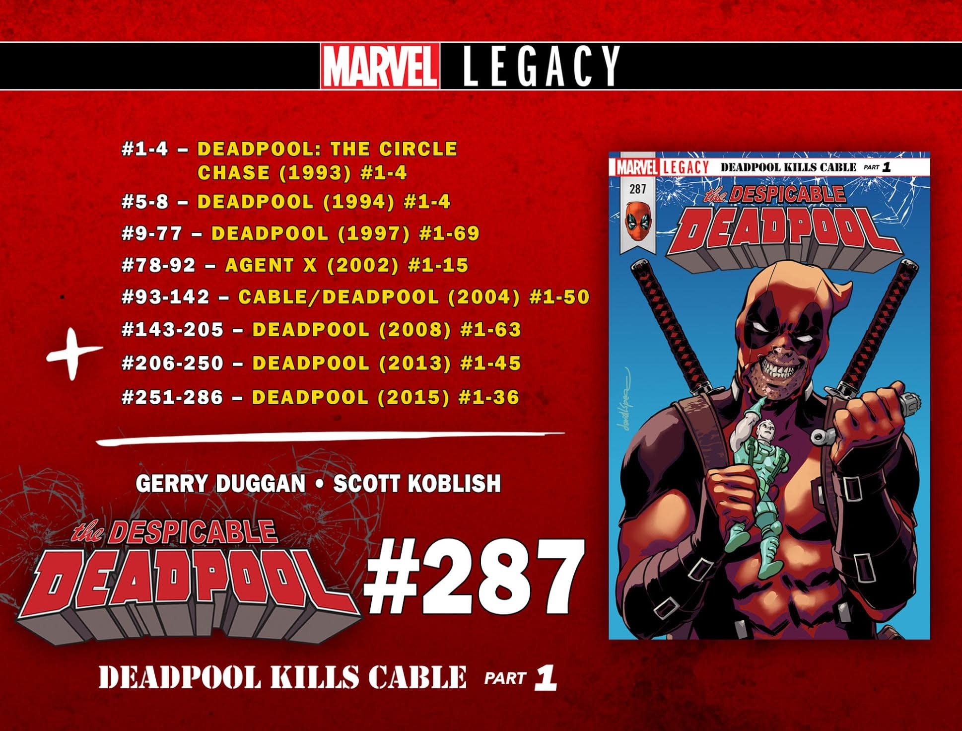 Deadpool Gets Cable & Deadpool, Cable Gets Squat For Marvel Legacy Numbering