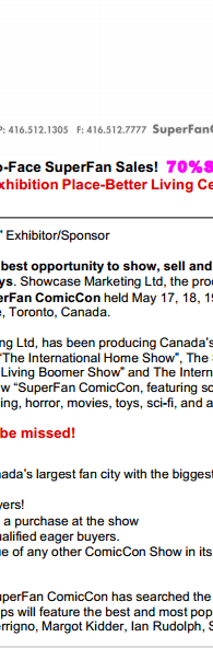 Super Fan Comic Con In Toronto Answers Critics Over Claims Of Mis-selling Buying Facebook Likes And Shouting At Vendors