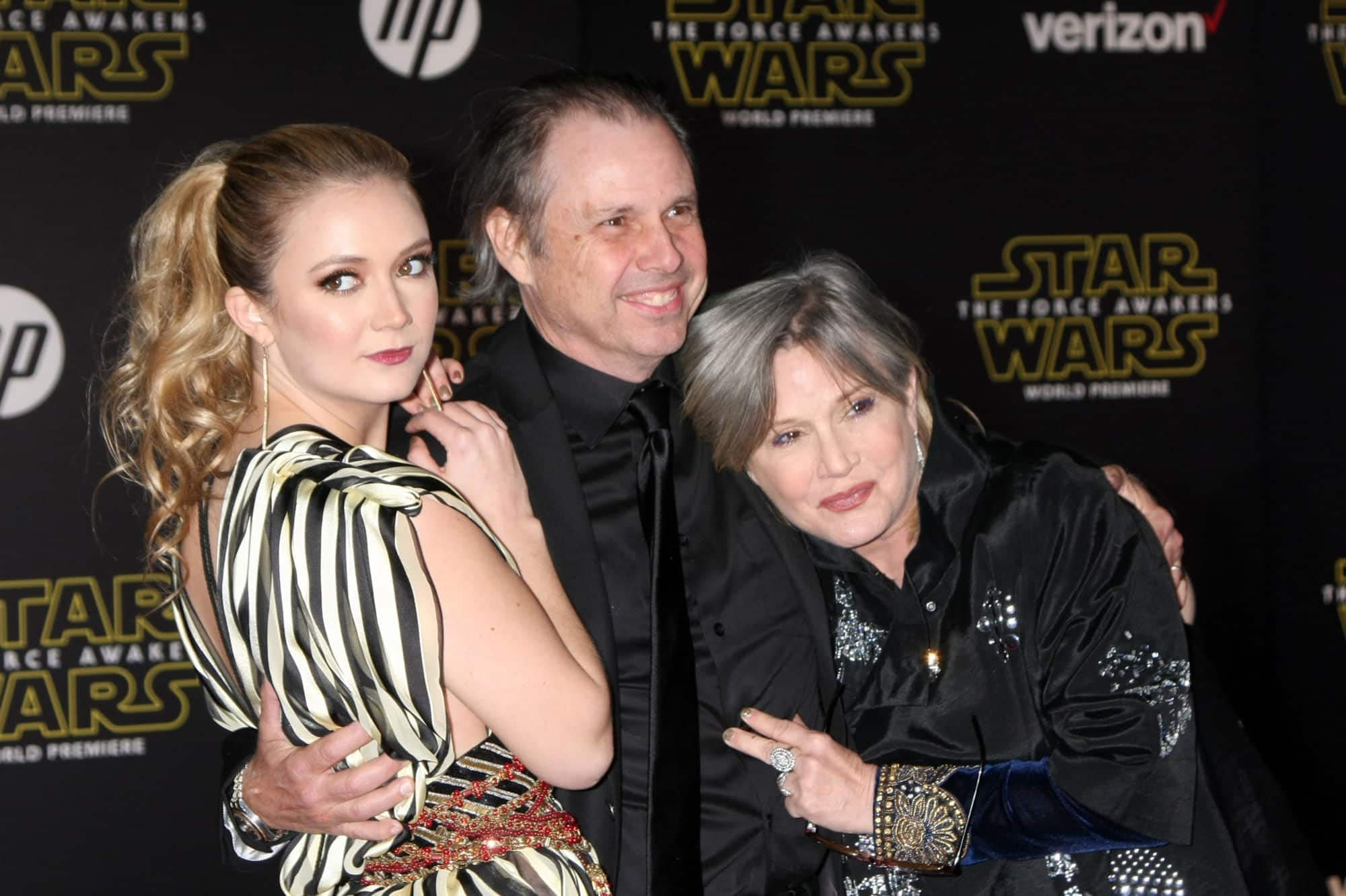 Billie Lourd, Todd Fisher, Carrie Fisher
