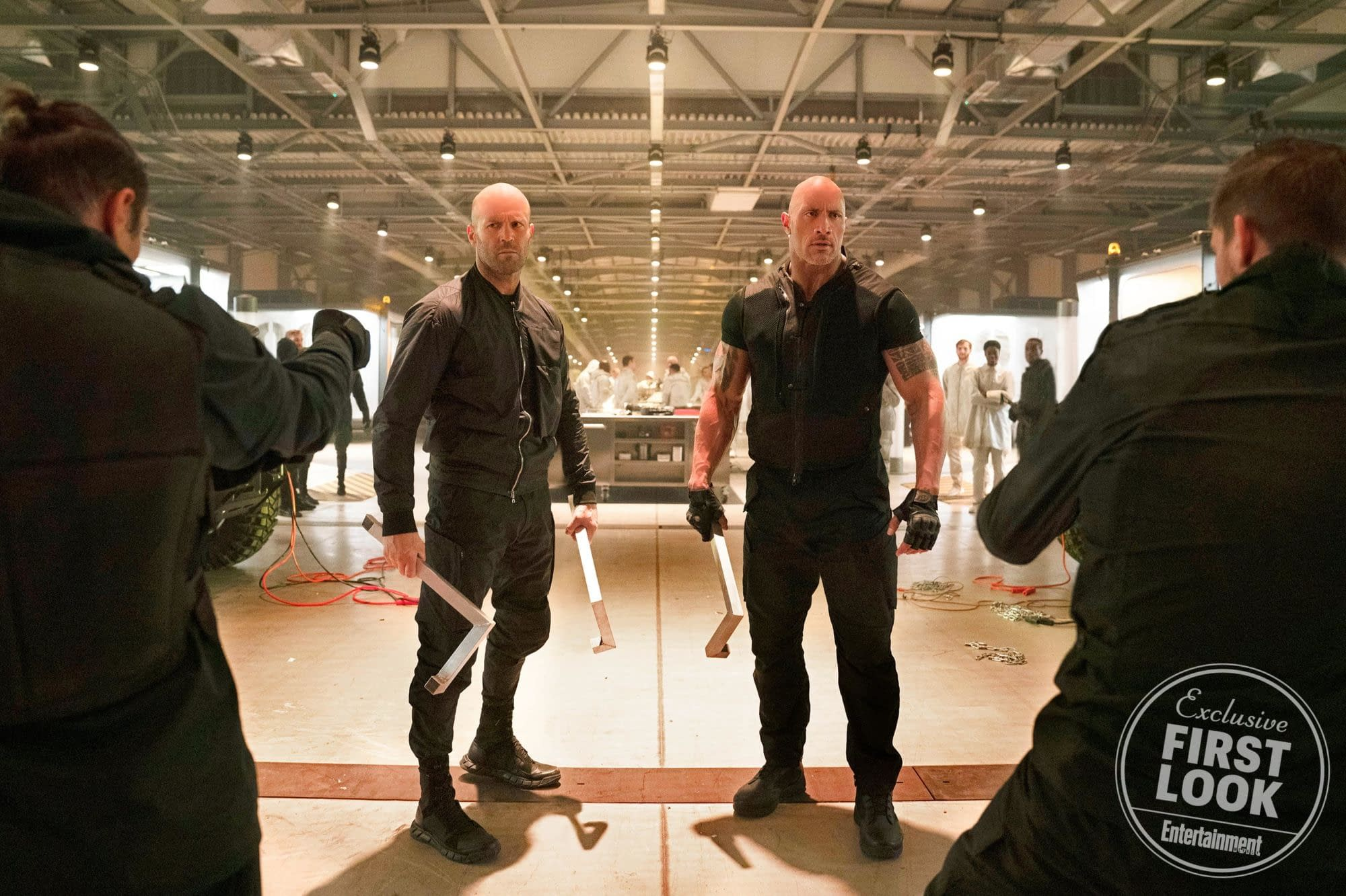 First Official Look at Hobbs and Shaw and Dwayne Johnson Talks Stunts