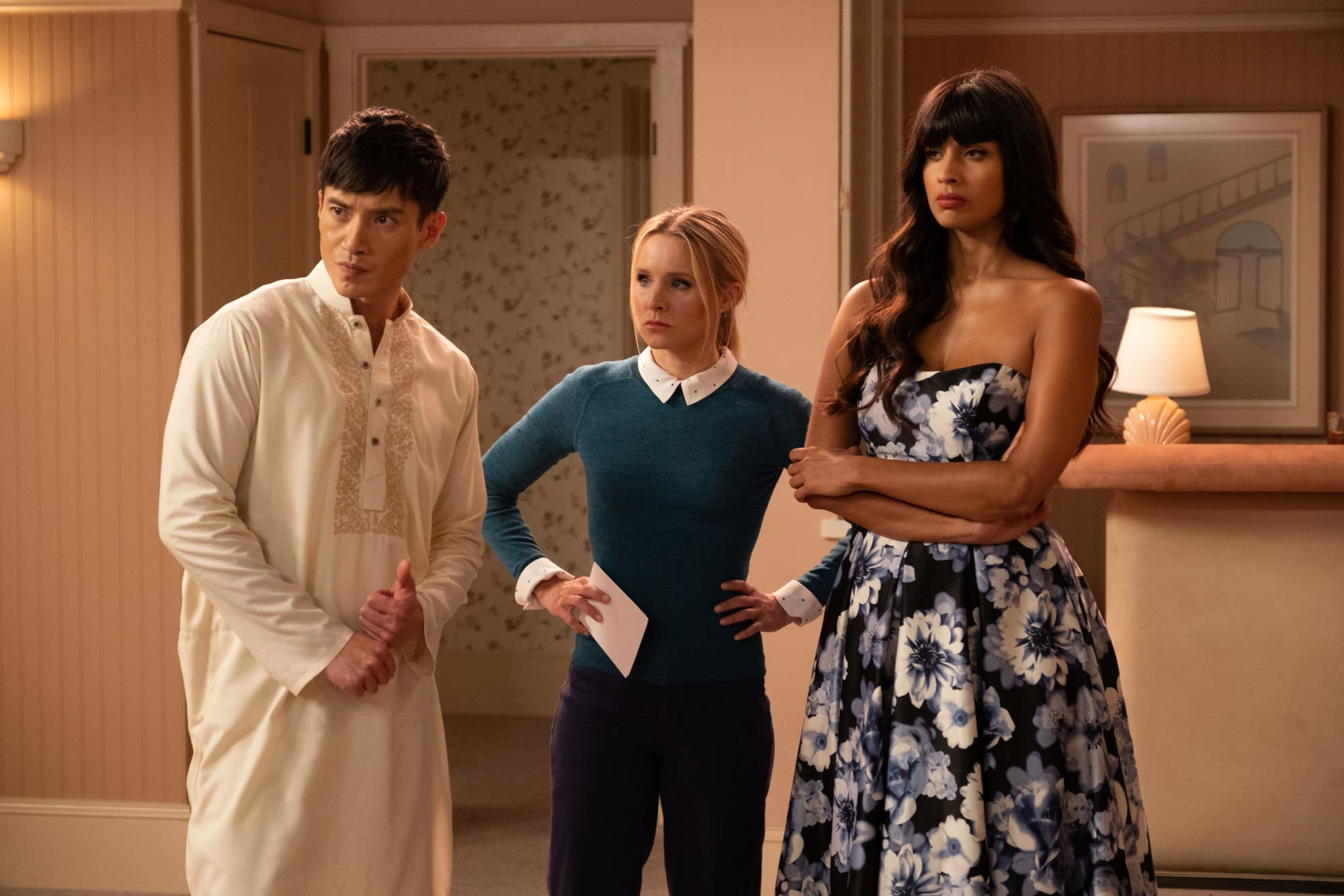 """""""The Good Place"""" Season 4: Does Our Soul Squad Have A """"Tinker, Tailor, Demon, Spy"""" in Their Midst? [PREVIEW]"""