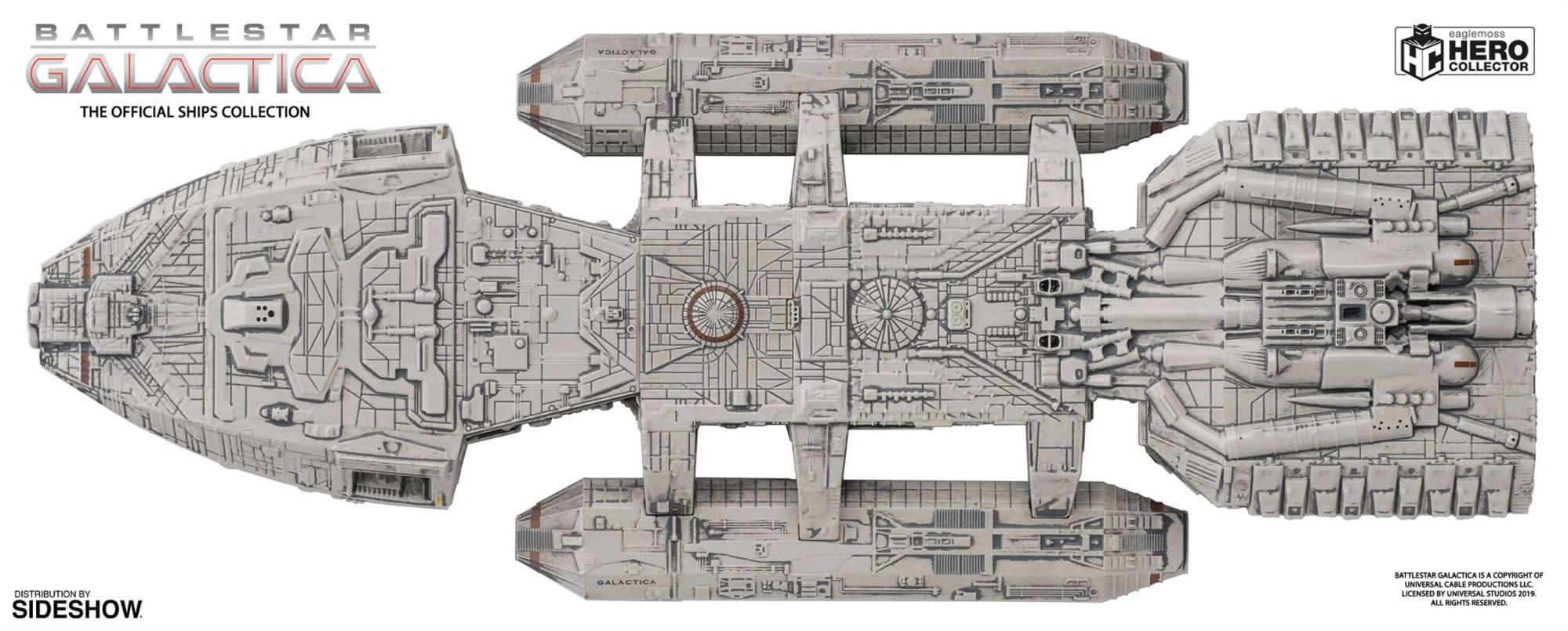 """Battlestar Galactica"" Ships Get Collectible Statues from Eaglemoss"