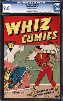 SHAZAM: First Appearance Of Captain Marvel In Whiz Comics #2 (#1) CGC 9.0 Sells For Record $281,001
