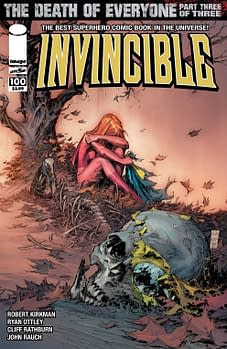 The Covers To Invincible #100 By  Ryan Ottley, Corey Walker, Marc Silvestri, Bryan Hitch, Art Adams And Charlie Adlard