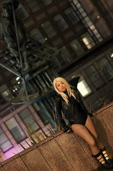A Black Canary Cosplays In London