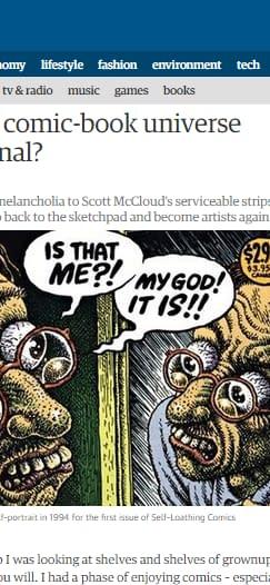 The Guardian Vs. Comic Books