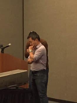 Jim Lee during the DC retailer meeting at Burbank