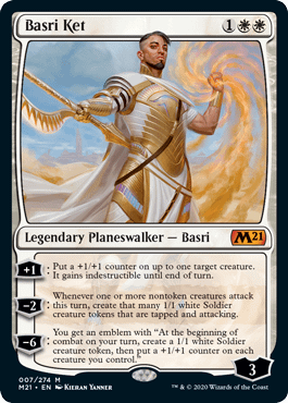 Basri Ket, a new card for Core 2021, an upcoming expansion set for Magic: The Gathering.